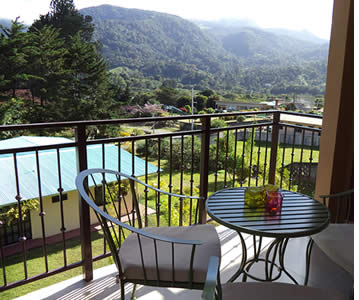 Balcony at Casa de Monta�a Boutique Bed & Breakfast in Boquete, Panama